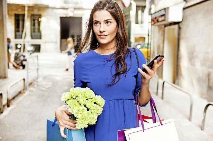 Woman Shopping SmartPhone B2C