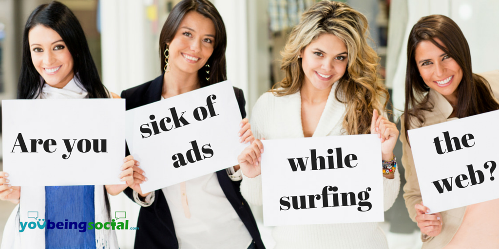 Are you sick of seeing ads while surfing the web AdBlock